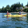 Kayaking on Pickering Passage off Harstine Island, Shelton, WA.