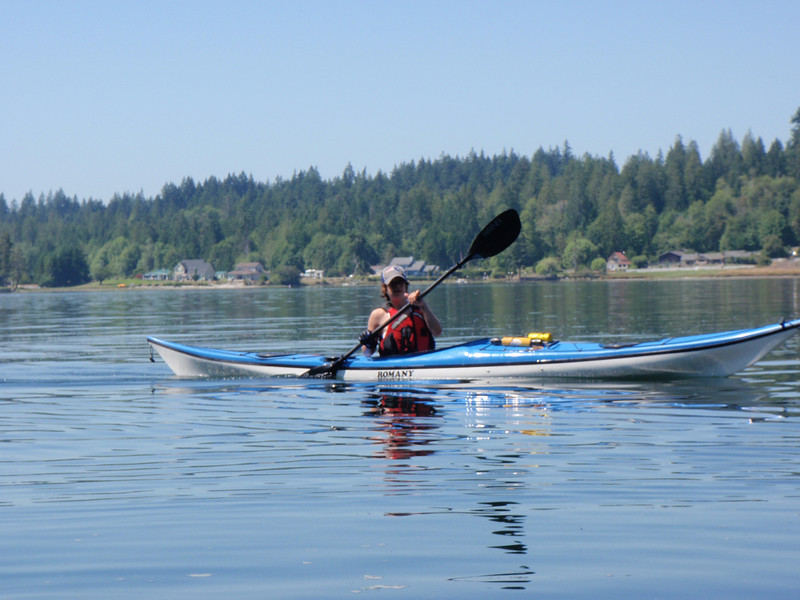 Kayaking off Harstine Island