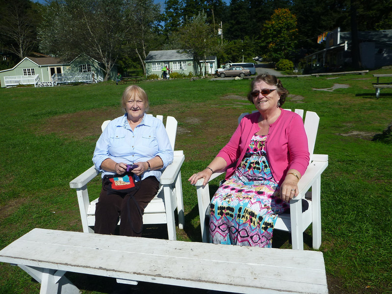 Imelda and Heather at Doe Bay.