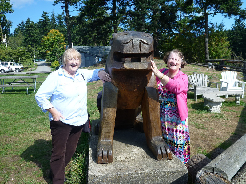 Imelda, Doe Bay Lion, Heather.  (I told Heather not to feed the animals, but did she listen??????).