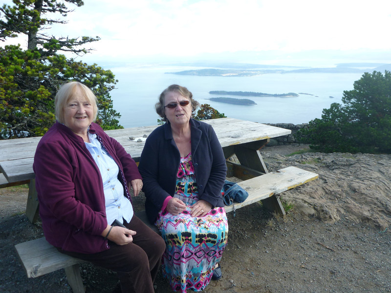 Imelda and Heather on Mt. Constitution