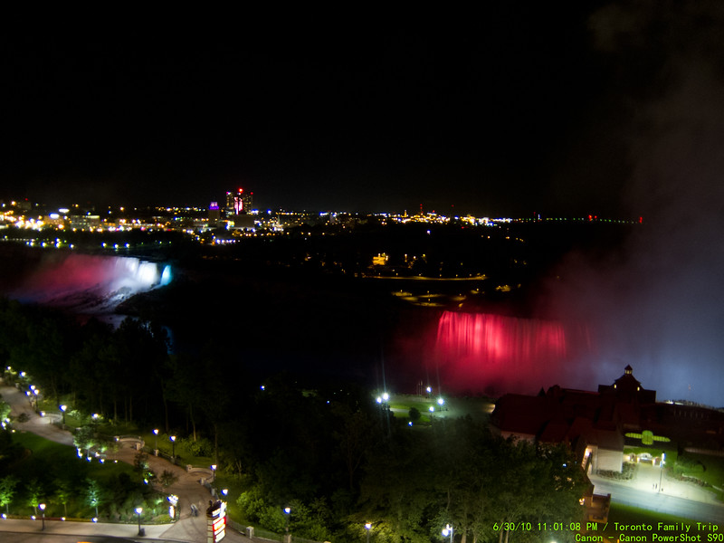 Falls from room at night.