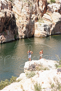 Jesse & Kylah getting ready to jump in.