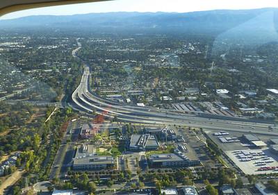Highway 101 and 85 interchange.