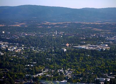 Stanford campus and vicinity, Palo Alto, CA.
