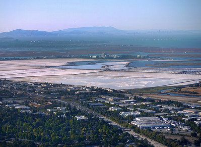 Salt reclamation pond, the Steinberger Slough, and the end of Seaport Blvd and its isolated and unusual business park.