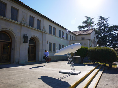 The Airship Ventures building at Moffett field, a former Bachelor Officers Quarters.