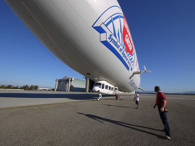 Getting read to have us walk toward the airship, one at a time.