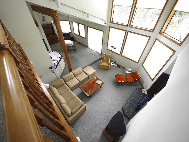Living room and dining room from the mezzanine