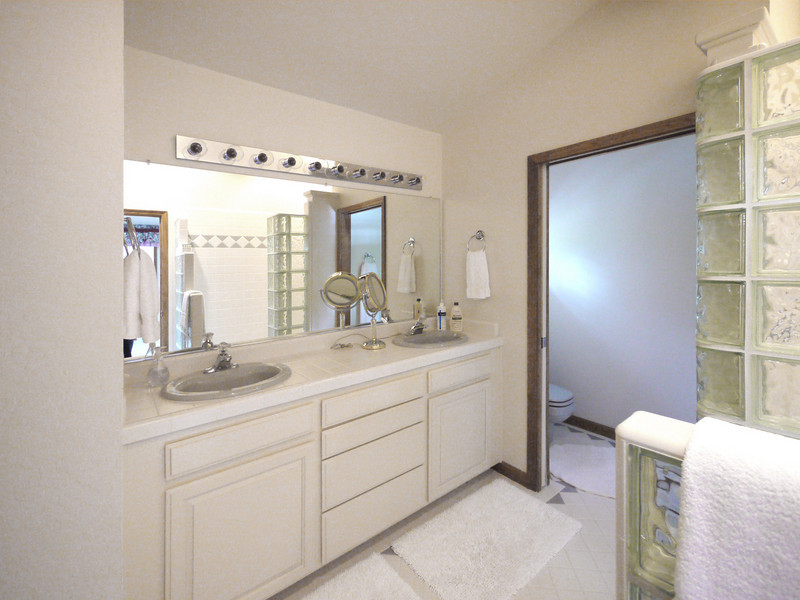 Master bath on the second floor