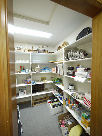 Pantry off the right side of the laundry