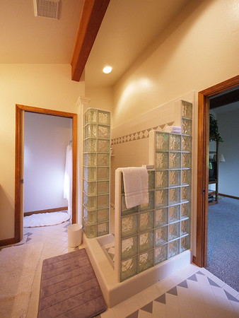 Master bedroom dual shower