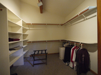 Upstairs walk-in closet