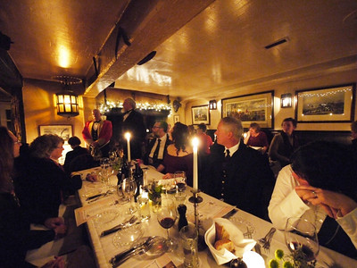 The dining room at the Pelican Inn