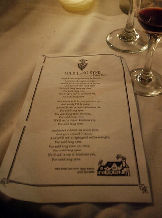 Robert Burns Auld Lang Syne was sung to close out the dinner
