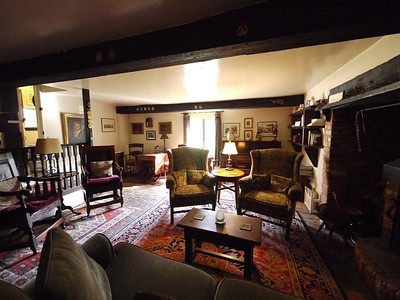 The snug room at the Pelican Inn