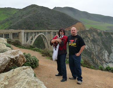 At the Bixby Bridge on PCH in Big Sur