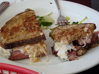 Homemade Pastrami, Gruyer & Sour Kraut - OMG