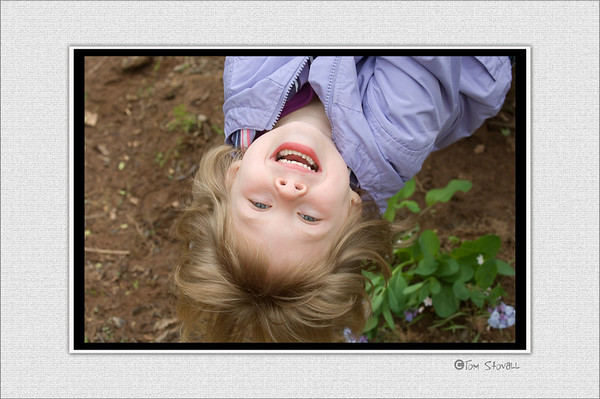 Lauren upside down