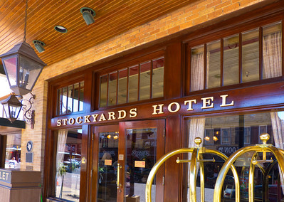 The historic Stockyards Hotel in Fort Worth Texas.