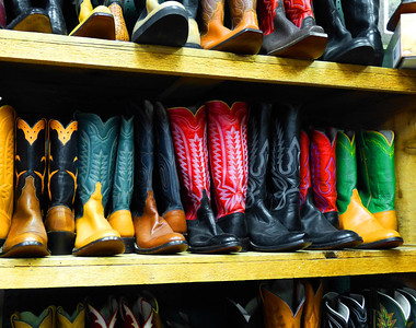 Boot styles at Leddy's Western Wear.