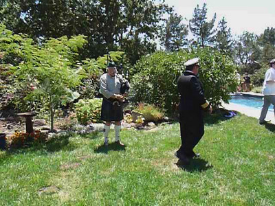VIDEO: Lynne Miller plays the pipes