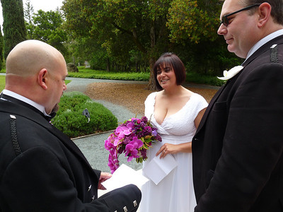 Craig reads his vows
