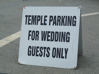 """We got married at the temple."""