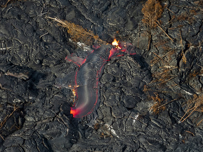 Lava flow on Kilauea.