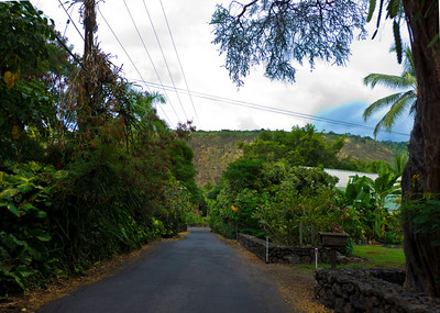 Teensy tiny road near Keone'ele Cove.