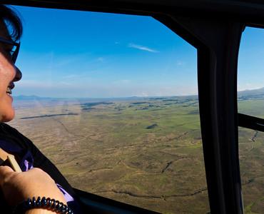 Heading toward the South towards the active volcano, Kilauea.
