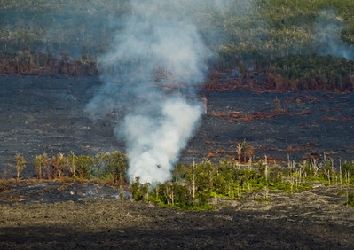 Lava flows near Kilauea.