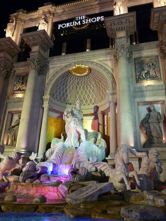 The Forum Shops fountain, Las Vegas