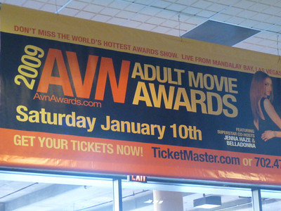 AVN Awards sign at the expo