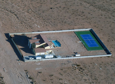 A Las Vegas compound from the air