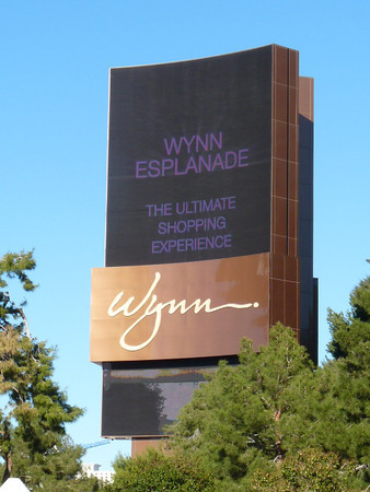 Moving Wynn Esplanade sign
