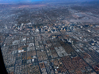 Las Vegas strip from the air