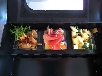 Virgin America Tapas Box snack