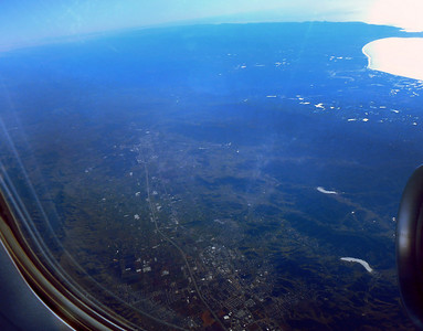 Gilroy (?) from the air