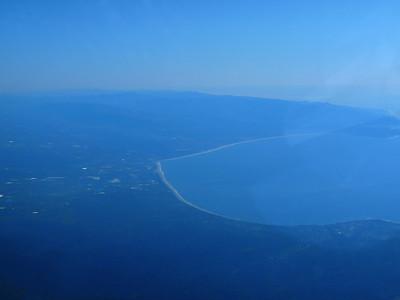 Santa Cruz from the air