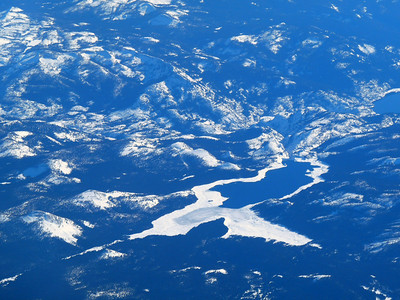 Sequoia Park glacier & lake from the air