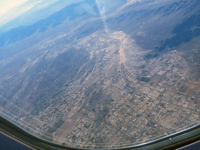 Beatty Nevada from the air