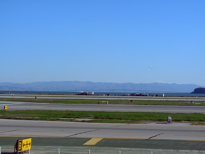 On the runway at SFO