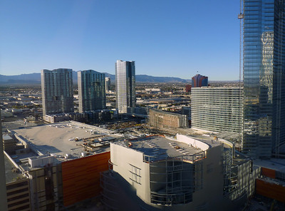 View from the 30th floor Monte Carlo Hotel, Las Vegas