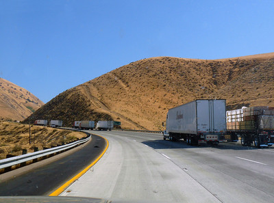 Trucks struggling up the Grapevine