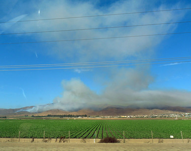 Big fire near Soledad, CA