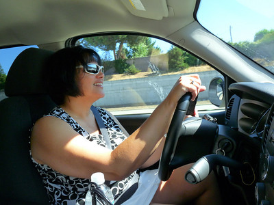 Phyllis at the wheel in San Jose