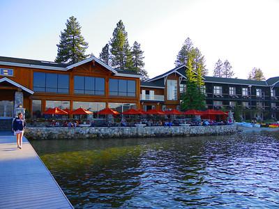 Shore Lodge patio / marina