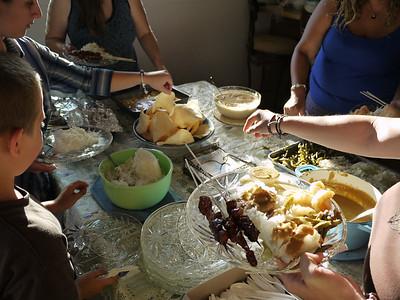 Indonesian style dinner