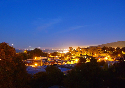 8 second timed exposure from the deck, looking toward SFO.